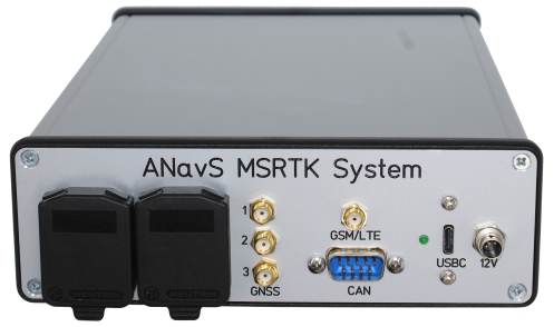 ANavS Multi-Sensor RTK module in metal chasing